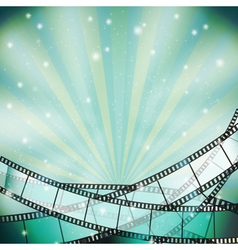 film background retro blue vector image