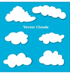 Flat design clouds icons set vector image vector image