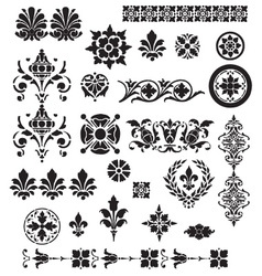 Floral Decorative set vector image vector image