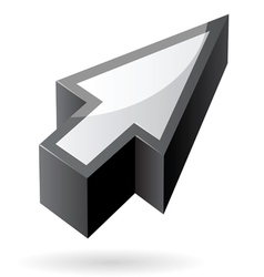 Isometric icon of cursor vector image vector image