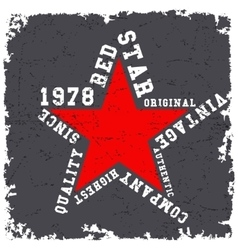 Red star vintage vector image vector image
