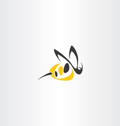 stylized wasp icon logo sign vector image vector image
