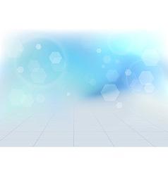 Transparent bokeh vibrant blue background vector image vector image
