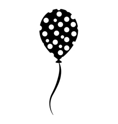 balloon air birthday isolated icon vector image