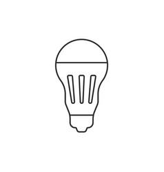 black thin line led bulb icon vector image