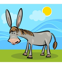 cartoon of donkey vector image vector image