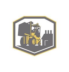 Forklift Truck Materials Handling Logistics Retro vector image vector image