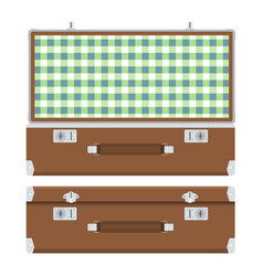 retro suitcase for travel vector image