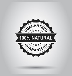 100 natural grunge rubber stamp on white vector
