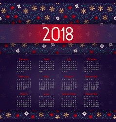 2018 calendar it can be used for web or print vector