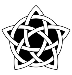 5-point celtic star knot vector