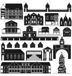 American architecture-4 vector