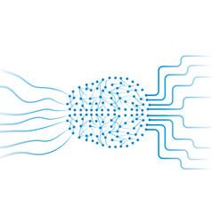 Artificial neural network in brain vector