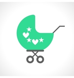 baby pram icon isolated on white vector image
