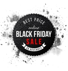 Black friday sale 2015 emblem vector image