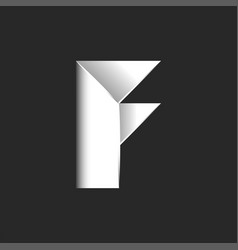 bold letter f logo initial black and white vector image