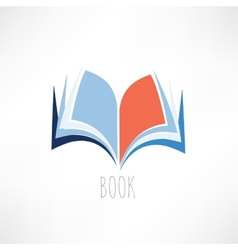 Book knowledge icon vector