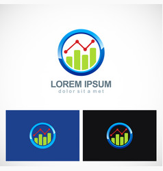business finance progress round logo vector image