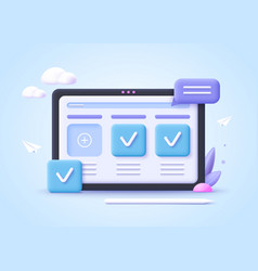 Business graphics tasks scheduling concept 3d vector