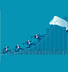 businessman up toward target concept business vector image