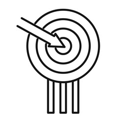 Campaign target icon outline style vector