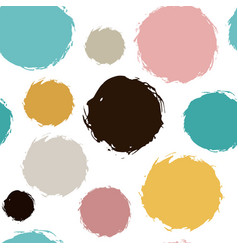 chaotic colorful polka dots painted vector image