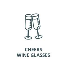 cheerswine glasses line icon cheerswine vector image