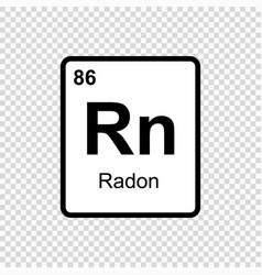 Chemical element radon vector