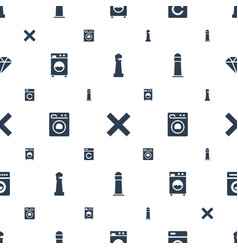 Clear icons pattern seamless white background vector