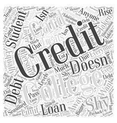 College Student Credit Card Debt Word Cloud vector