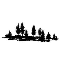 Composition forest silhouette landscape vector