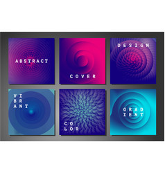 cover set with abstract backgrounds vector image