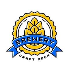 Craft beer bages vector