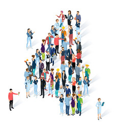 crowded isometric people numbers vector image