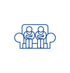 customer service line icon concept customer vector image