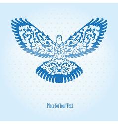 decorative dove vector image