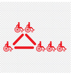 disabled handicap icon design vector image