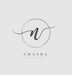 Elegant initial letter type n logo vector