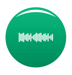 equalizer sound icon green vector image