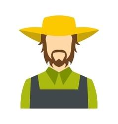 Farmer icon flat vector