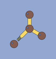 Flat icon design collection atom disconnection vector