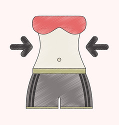 flat shading style icon woman body diet vector image