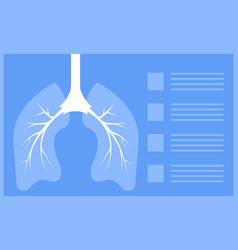Fluorography concept pulmonary fibrosis vector