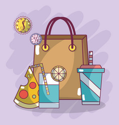 Food supermarket products vector
