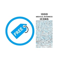 Free Tag Rounded Icon with 1000 Bonus Icons vector