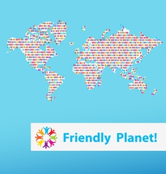 friendly planet different people vector image
