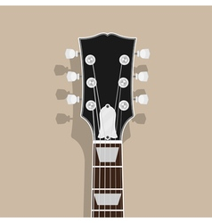 guitar neck vector image