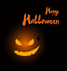 Happy halloween card with pumpkin vector