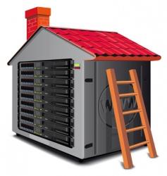 hosting left panel vector image
