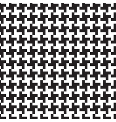 Hounds-tooth monochrome transparent pattern vector